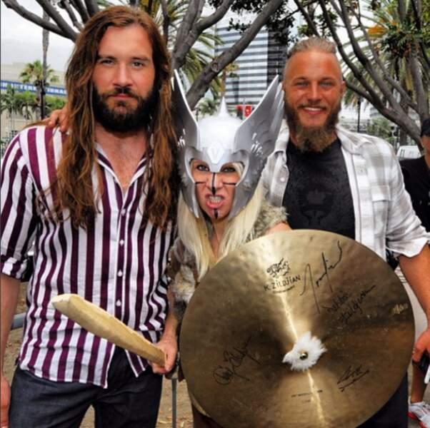 Avec son comparse de Vikings Clive Standen (Rollo)