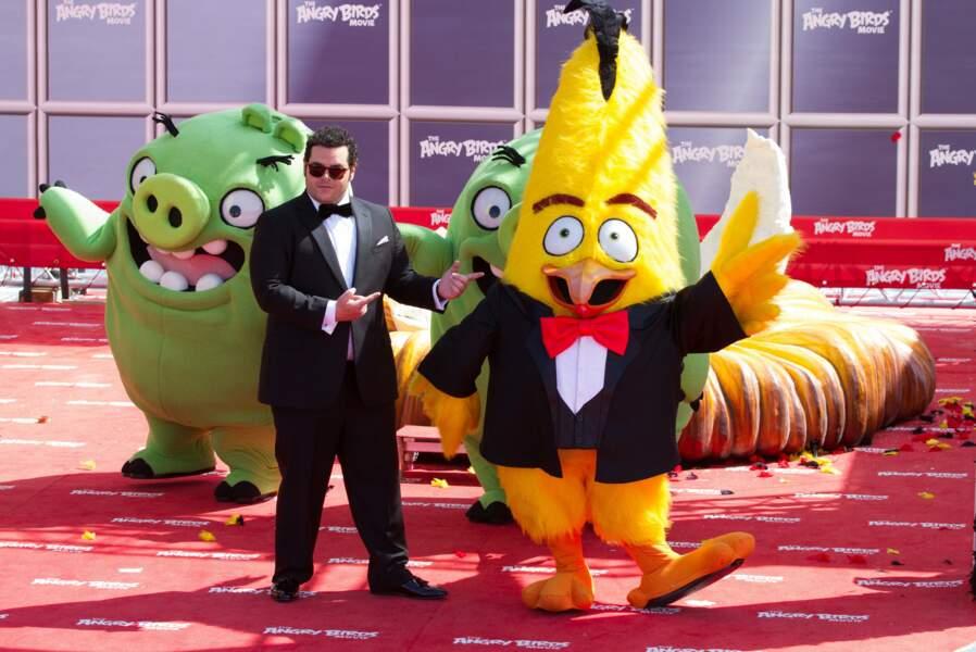 Josh Gad, qui prête sa voix pour la version originale du film était aussi présent