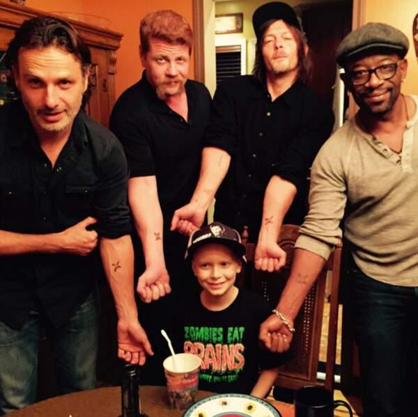Avec les copains de The Walking Dead !