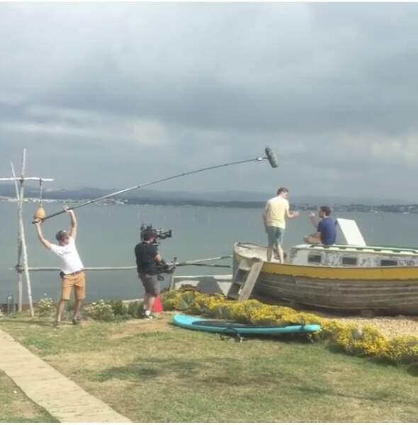 Et voici les coulisses du tournage d'une des premières scènes !