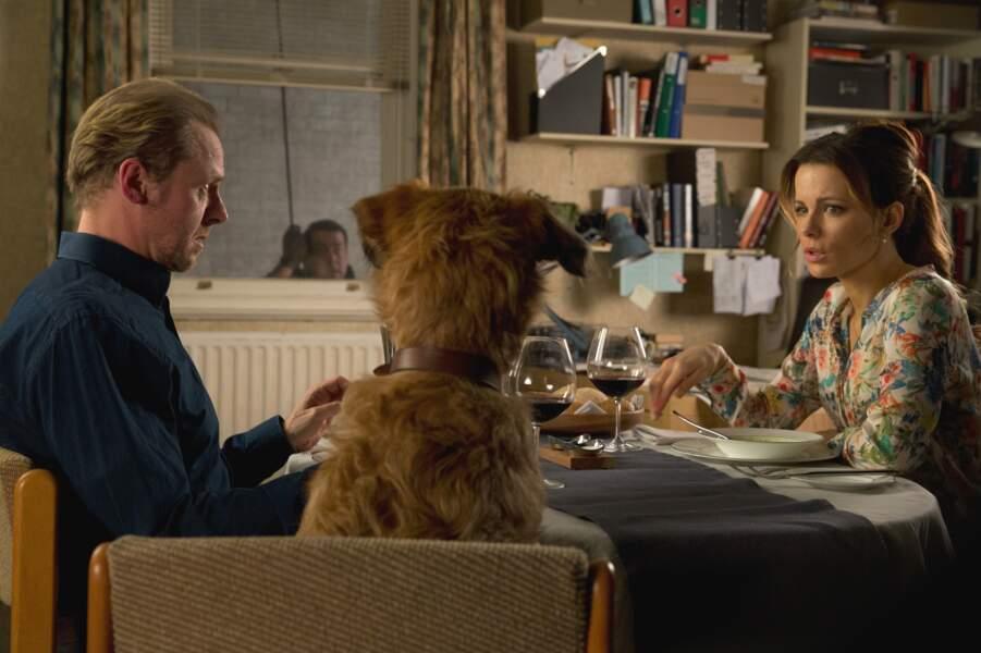 Oui Kate, il y a bien un chien à ta table (et Simon Pegg aussi)
