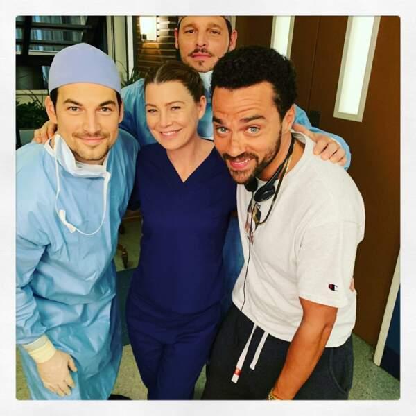 Ellen Pompeo bien entourée pour la saison 15 de Grey's Anatomy