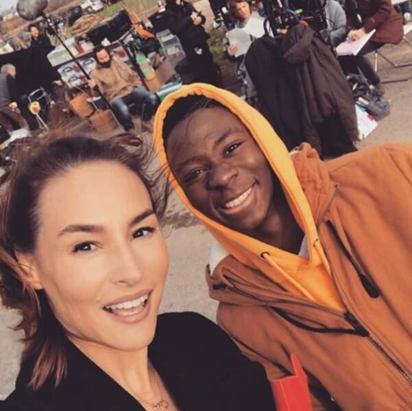 Vanessa Demouy s'entend très très bien avec le jeune Dembo Camilo qui joue Souleymane dans Demain nous appartient !