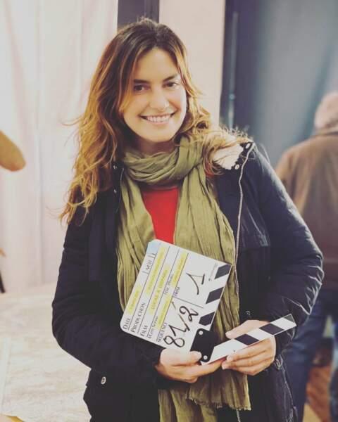 Laëtitia Milot lors du premier jour de tournage de son nouveau téléfilm Lucas a disparu pour M6