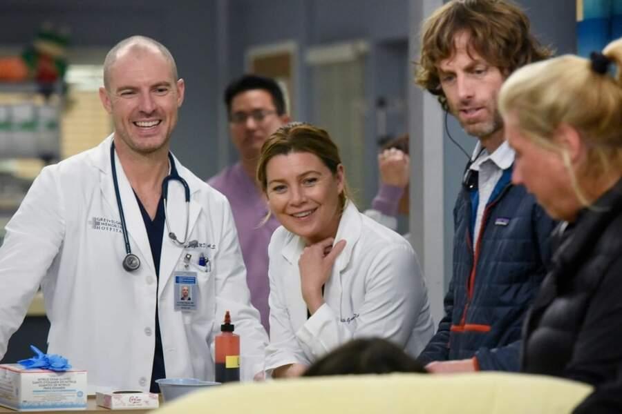 Richard Flood (Cormac) et Ellen Pompeo (Meredith) ont déjà une belle complicité sur le tournage de Grey's Anatomy