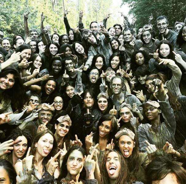 Nous avons l'impression que toute l'équipe de The Walking Dead a un message à faire passer…