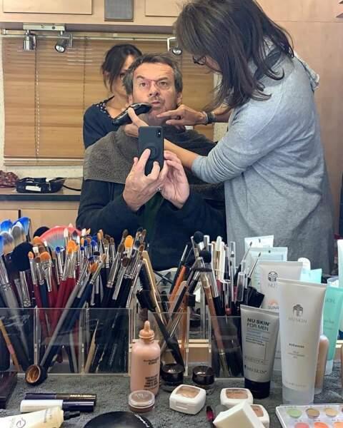 Léo Mattéi (TF1) : Séance maquillage-rasage- grimace pour Jean-Luc Reichmann !
