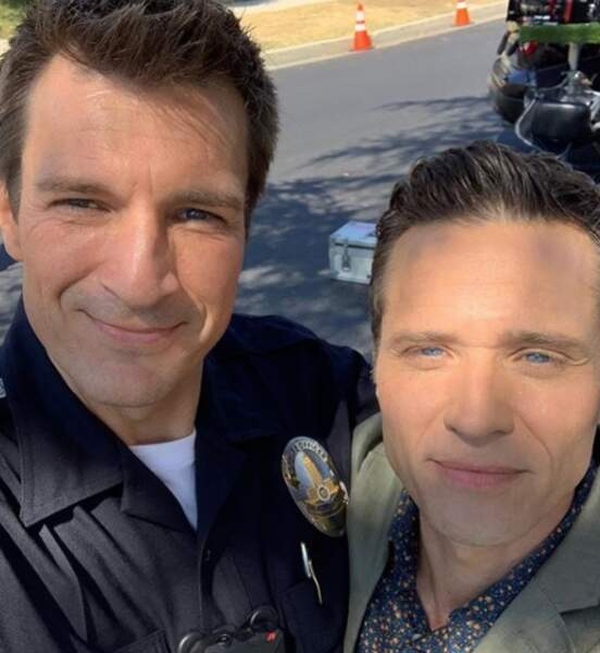 Nathan Fillion sur le tournage de la saison 2 de The Rookie