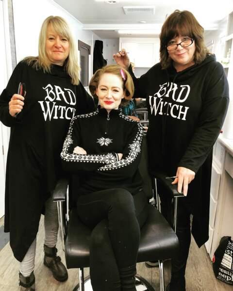 Les cheveux de Miranda Otto sont sous bonne garde sur le tournage de Sabrina