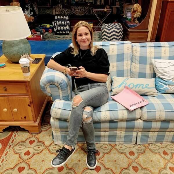 Candace Cameron Bure, l'une des héroïnes de La Fête à la maison, profite de ses derniers moments sur le tournage…