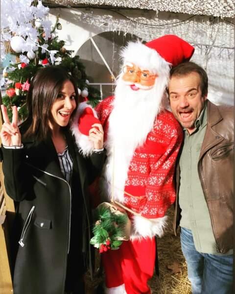 Entre deux prises de Plus belle la vie, Fabienne Carat et Stéphane Hénon font leur liste au Père Noël