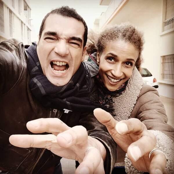 Petit selfie entre Julien Masdoua et Frédérique Kamatari sur le tournage d'Un si grand soleil