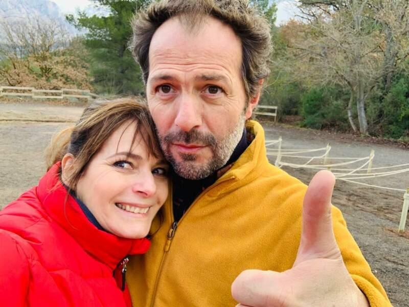 Jean-Charles Chagachbanian, ravi de retrouver les plateaux et sa compagne de tournage, Cécilia Hornus, de Plus belle la vie