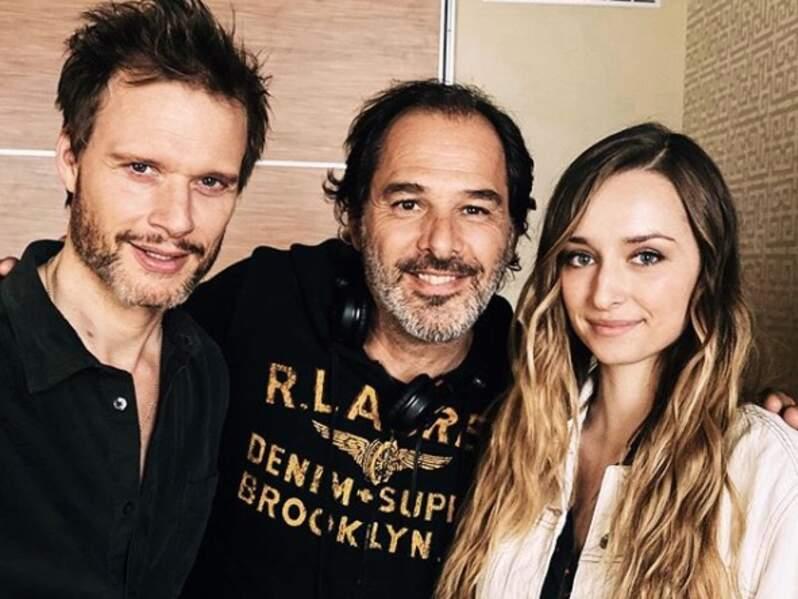 Tel père, telle fille ? Axel Kiener pose au côté d'Emma Smet et du réalisateur Thierry Peythieu