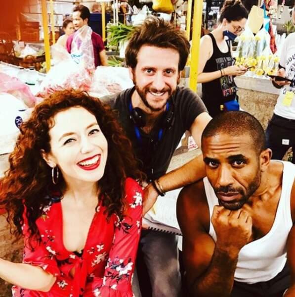 Blandine Bellavoir et Loup-Denis Elion tournent toujours à Bangkok le prochain épisode de Coup de foudre...