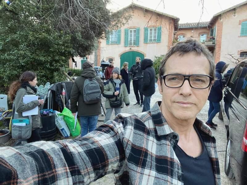 Laurent Hennequin (Andres) sur le tournage de Plus belle la vie