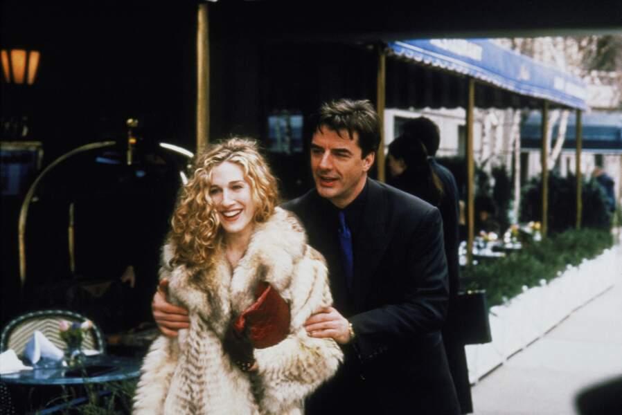 """Dès les premières saisons, elle y rencontre l'homme de sa vie : Big, avec qui, ça va être """"compliqué"""""""