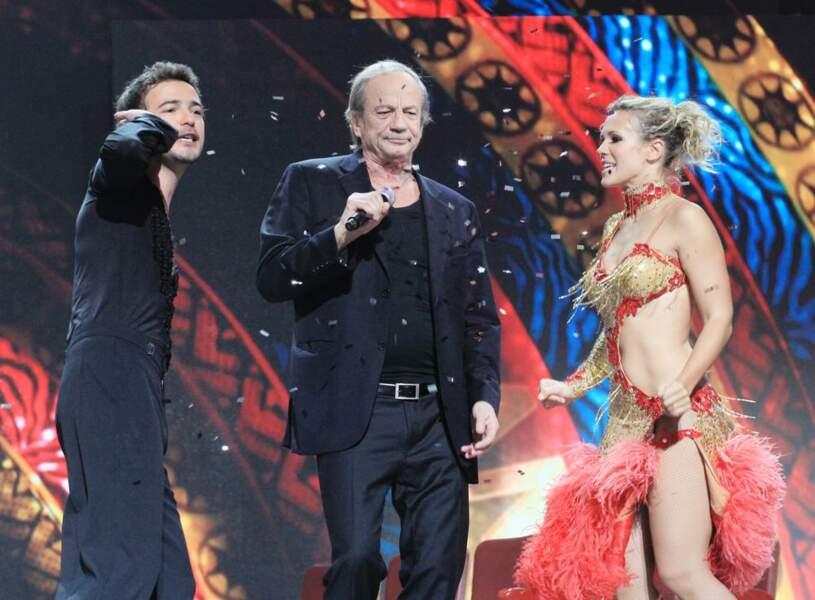 Patrick Chesnais entouré de Renan Luce et Lorie