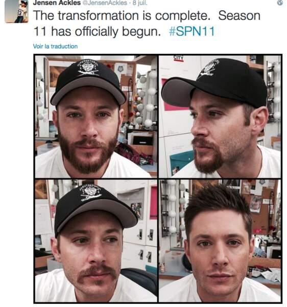 Les vacances sont finies : Jensen Ackles a rasé sa barbe pour Supernatural