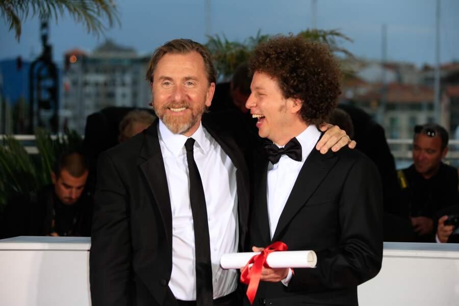 Michel Franco et Tim Roth, gagnants du prix du scénario, pour Chronic