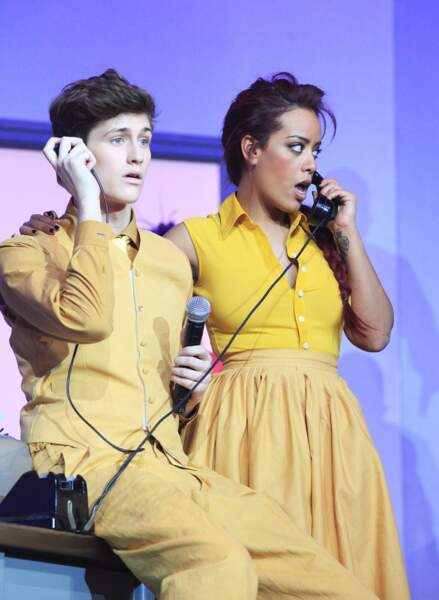 Jean-Baptiste Maunier et Amel Bent tout de jaune vêtus