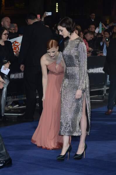 Avec Jessica Chastain, sa partenaire dans le film