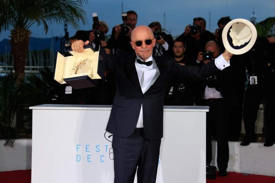 Jacques Audiard et sa Palme d'Or pour le film Dheepan