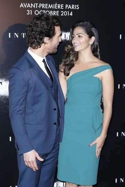 Matthew McConaughey était accompagné de son épouse, Camilla Alves