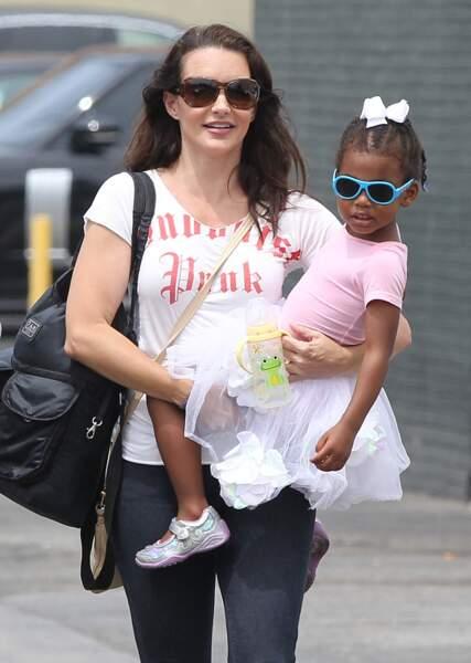 Kristin Davis avec sa fille adoptive Gemma Rose