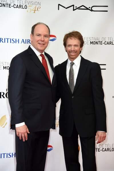 Albert II et son invité d'honneur, Jerry Bruckheimer