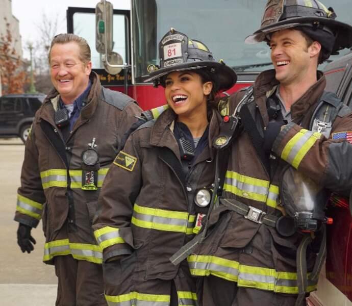 Les pompies de Chicago Fire en plein éclat de rire