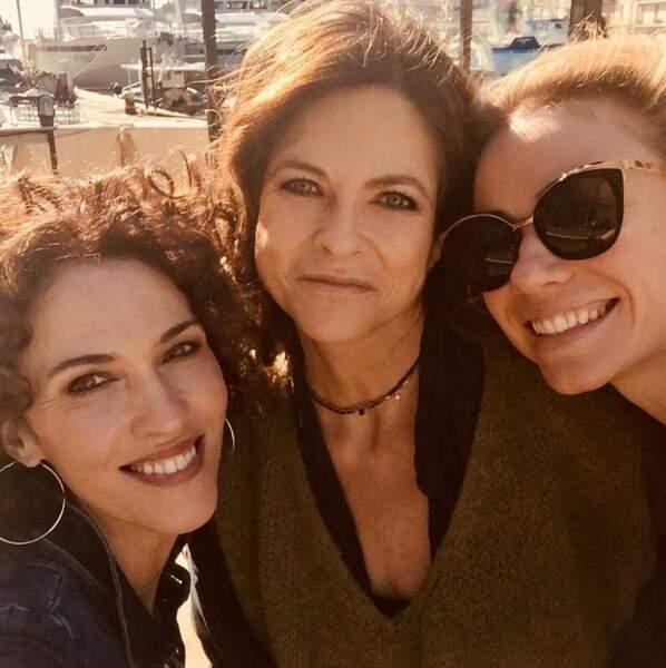 Autre joli trio d'actrices de Demain nous appartient : Linda Hardy, Charotte Valandrey et Maud Baecker