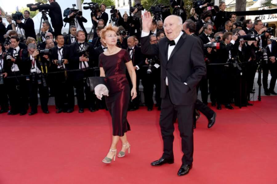 Michel Piccoli et sa compagne Ludivine Clerc