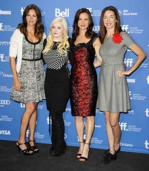 Julia Roberts, Abigail Breslin, Juliette Lewis et Julianne Nicholson pour Osage County