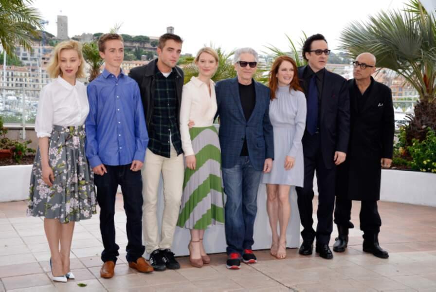 Toute l'équipe de Maps To The Stars présente à Cannes