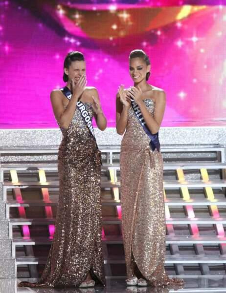 Miss Bourgogne et Miss Tahiti