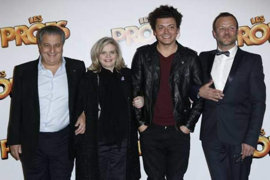Christian Clavier, Isabelle Nanty, Kev Adams et Pierre-Francois Martin-Laval