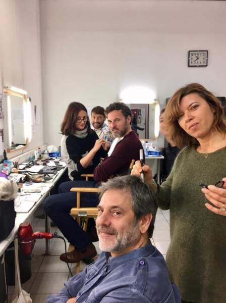 Et on se quitte sur cette photo de la loge maquillage de la série de France 3