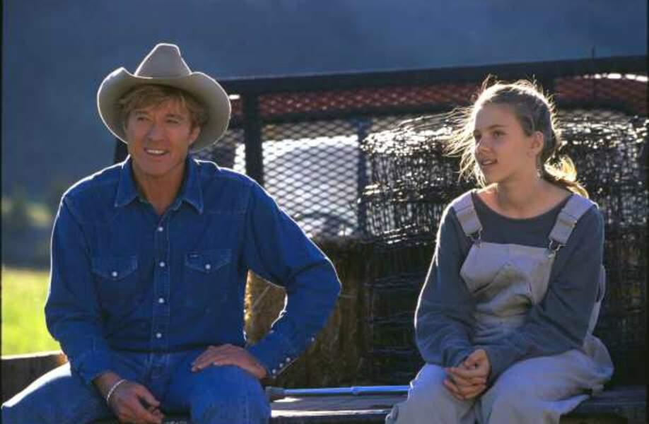 L'homme qui murmurait à l'oreille des chevaux, de Robert Redford (1998). Avec Scarlett Johansson