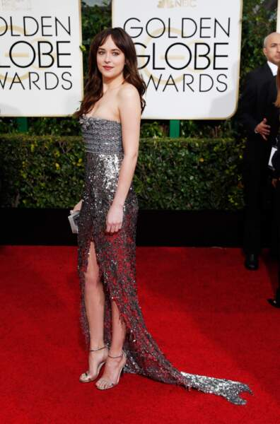 Dakota Johnson, alias Anastasia Steele dans 50 nuances de Grey