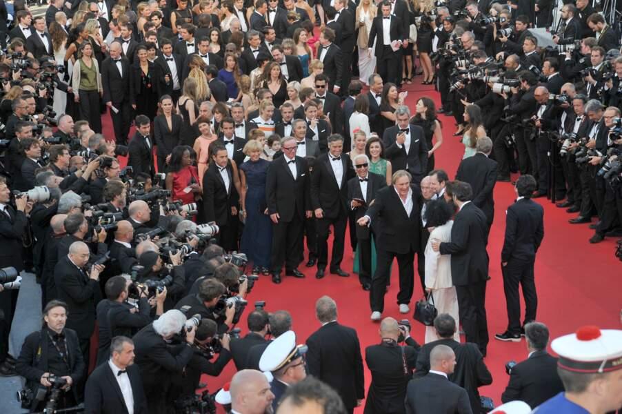 Gérard Depardieu créé l'événement sur le tapis rouge