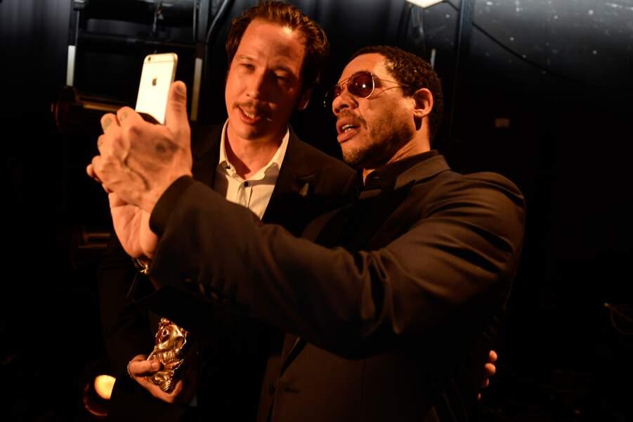 Selfie souvenir pour Reda Kateb et JoeyStarr