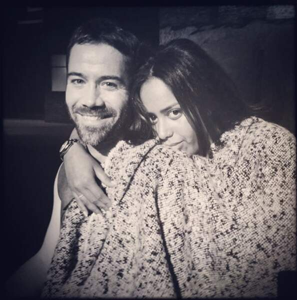 Emmanuel Moire tout sourire avec Amel Bent