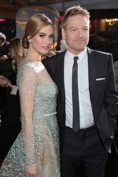 Lily James et Kenneth Branagh