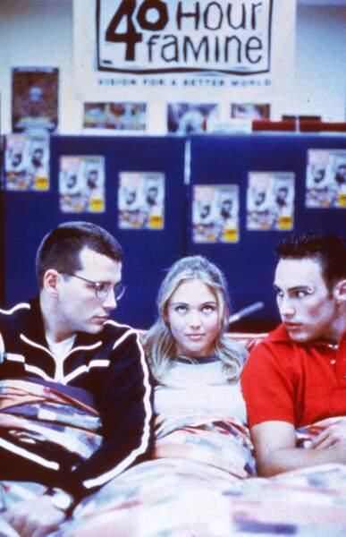 Drazic entouré de Charlie et Anita, sa petite amie