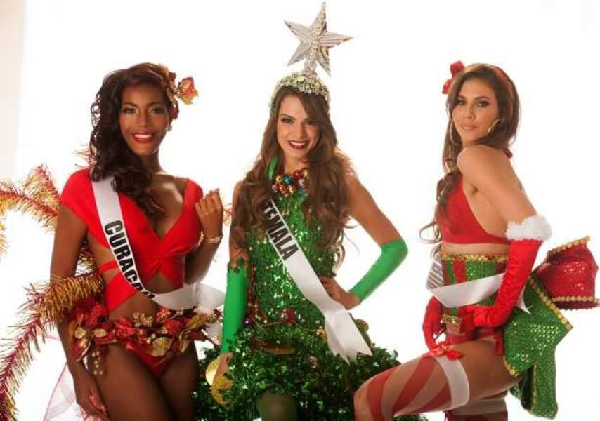 Miss Curacao, Miss Guatemala et Miss Aruba