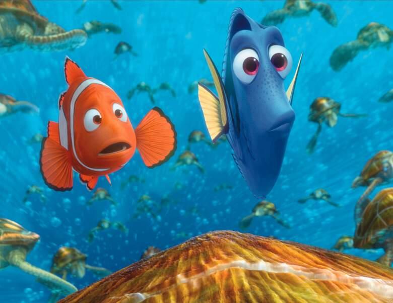 Marin, c'est le papa du petit Nemo dans Le Monde de Nemo. Qui le doule ? Un autre rigolo, qui aime le camping…
