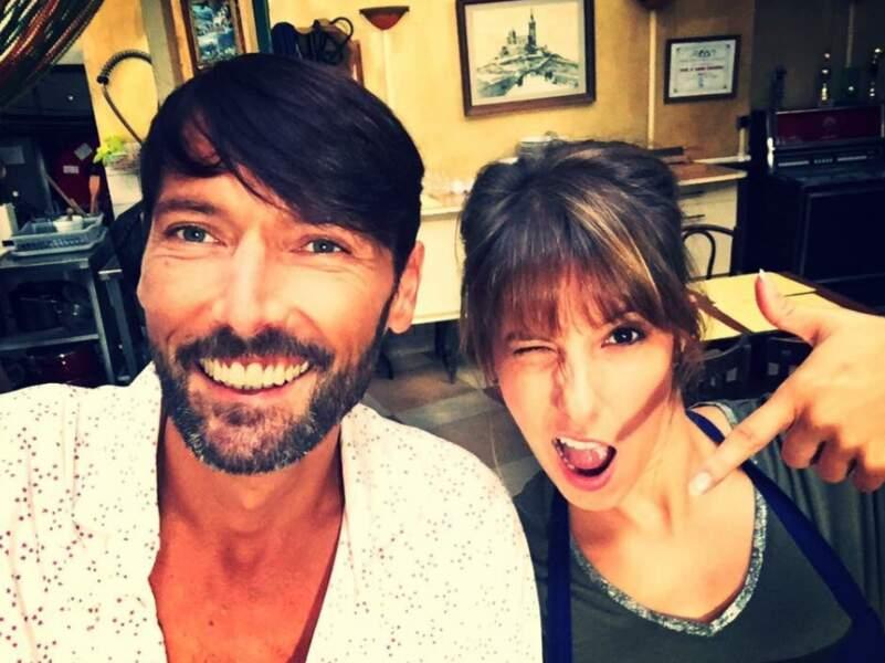 Et bien sûr, le selfie de Laurent Kérusoré de Plus belle la vie. Avec Léa François, cette fois (Barbara)