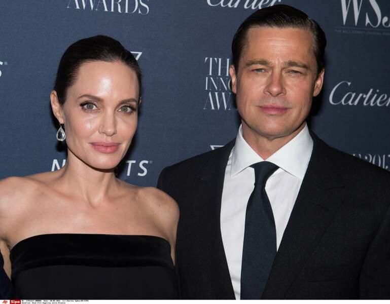 Les Brangelina en novembre 2015. Leur film commun réalisé par Angelina, Vue sur mer, parle d'un couple en crise…