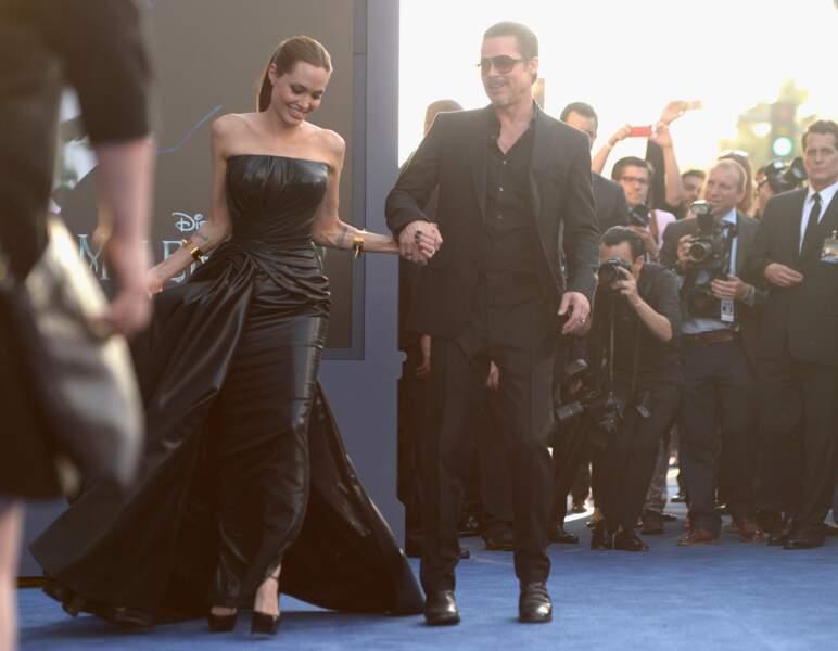 Angelina Jolie et Brad Pitt, couple star à l'avant-première de Maléfique
